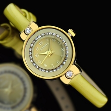 ASNNS genuine fashion compact mirror cut diamond ring belt watches lady genuine leather wristwatch
