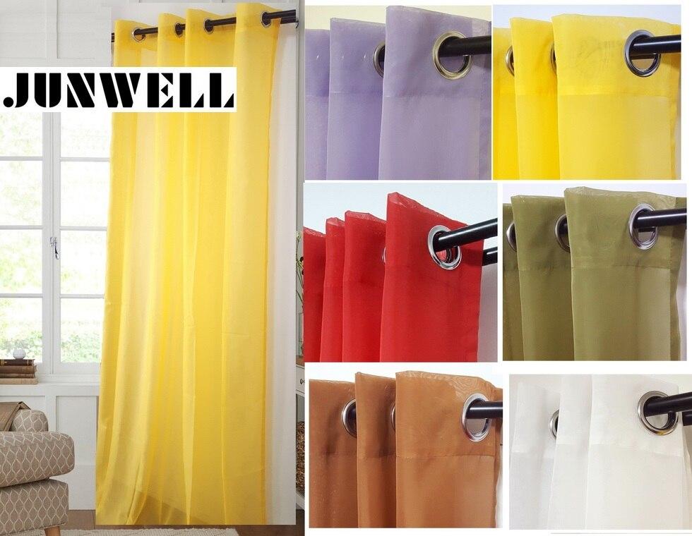100% Polyester 4cm Durchmesser Tülle Top Öse Vorhang Home Wave Wohnzimmer Balkon Voile Panel Kundenwunsch lieferbar