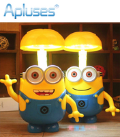 Minions Cartoon Folding LED Night Light Money Box Baby Room Kids Bed Lamp Sleeping Night Lamp