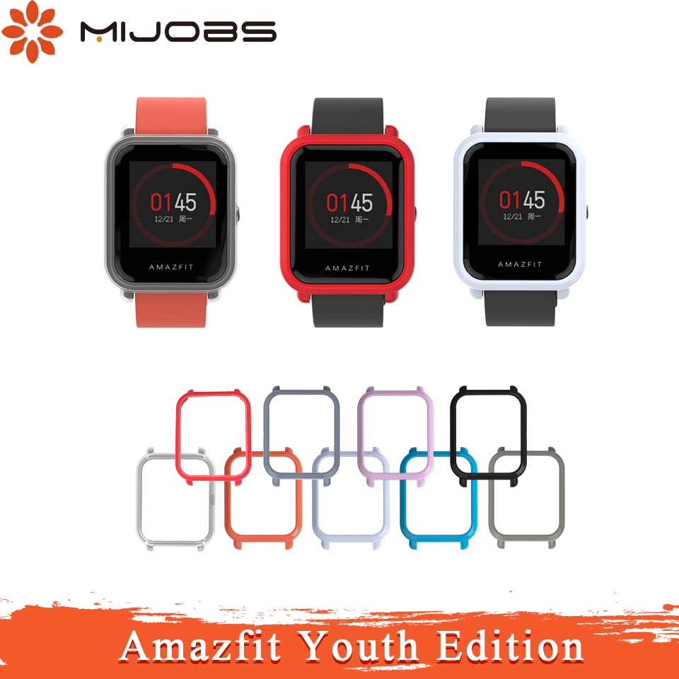 Mijobs Amazfit Protective Case Cover For Xiaomi Huami Amazfit Bip BIT PACE Lite Youth Smart Watch Strap Plastic PC Shell Bumper