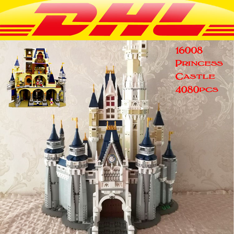 LEPIN 16008 Cinderella Princess Castle Model Building Kits Block Bricks Toys Set Building Blocks Bricks 71040 lepin 16008 4160pcs cinderella princess castle city model building block kid educational toys for gift compatible legoed 71040
