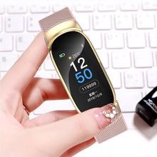 LIGE Sports Watch Woman fitness tracker Blood pressure Band Heart rate Activity Smart Ladies watch Bracelet