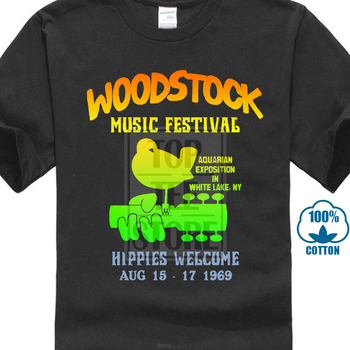 Summer 2019 Famous Brand Authentic Woodstock Music Festival Bird Guitar Logo Hippies Welcome 1969 T Shirt Band Logo Tee Shirt Fo