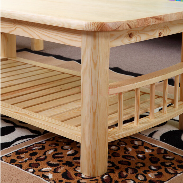 Aliexpress.com : Buy Pine Wood Modern Center Table With Shelf Storange  Natural Living Room Coffee Tea Table Design Rectangle Wooden Table Furniture  From ...