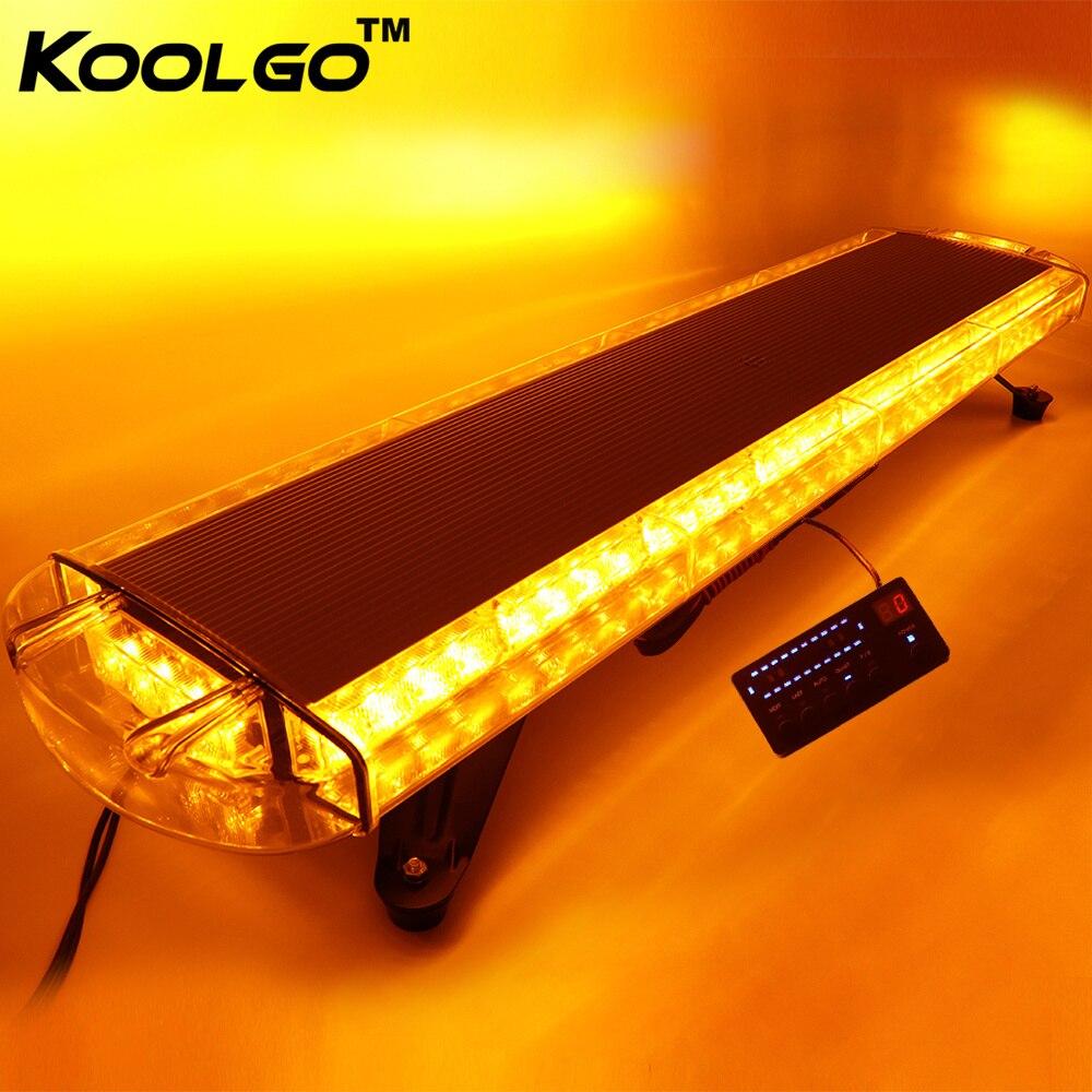 KOOLGO Amber 72 LED Light Bar Car Truck Towing Strobe Flash Traffic Emergency Warning LightBar Beacon