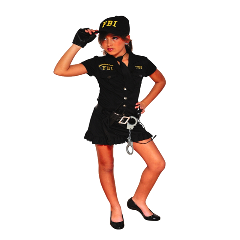 Halloween costumes for kids girls police for Cool halloween costumes for kids girls