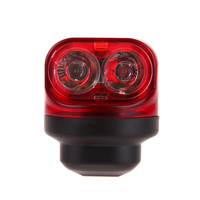 1 Pcs Red Bike Cycling Lights Friction Generator Dynamo Tail Lights Set Safety Night Riding No
