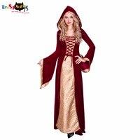 Eraspooky женский костюм леди престолов Косплей 2018 красный Средневековый платье длинное платье Ренессанс Хэллоуин костюмы для взрослых