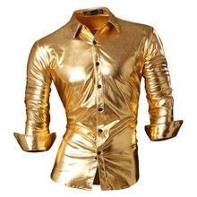 2017 Демисезонный Особенности Рубашки мужская повседневная Bronzing Slim Fit рубашка Новинка с длинным рукавом Повседневные мужские Рубашки Z036