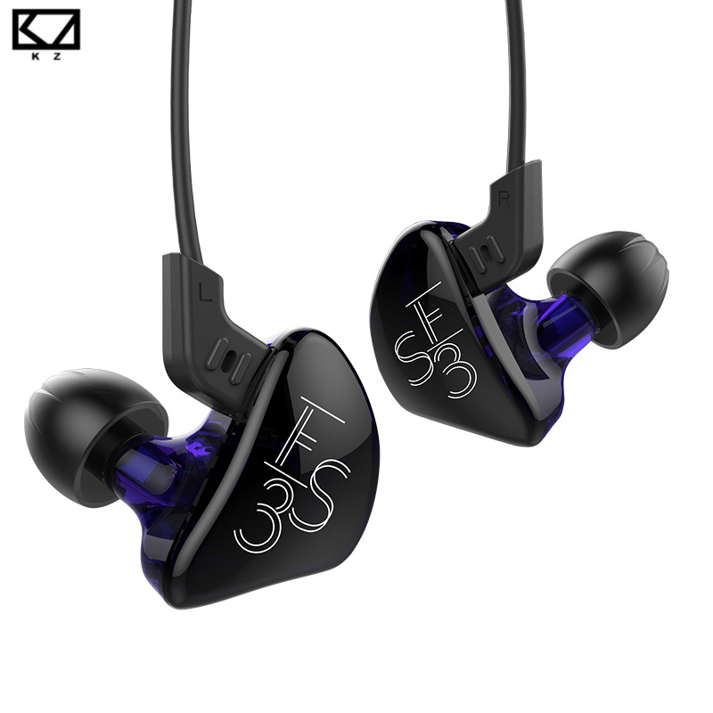 KZ ES3 1DD+1BA In-Ear Earphone Balanced Armature Dynamic Subwoofer Stereo Headset Noise Cancelling HIFI Detachable Earbuds kz zsr bluetooth headphones balanced armature with dynamic in ear earphone 2ba 1dd unit noise cancel headset replacement cable