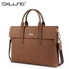 Sxllns Brand Handbag Men Shoulder Bag Briefcases Laptop Tote Bag Vintage Casual Crossbody Bag Men's Messenger Bag Free Shipping