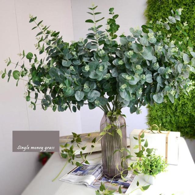 Artificial Leaves Branches Simulation Plant Eucalyptus Large Bouquet ...