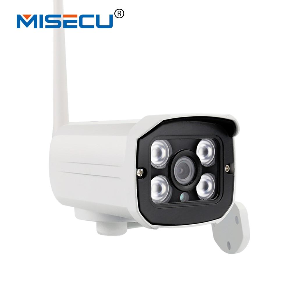 imágenes para MISECU Nueva Visión Nocturna 1280*720 P HD 1.0MP P2P y ONVIF Inalámbrica Wifi Impermeable cámara IR En/Sistema de CCTV cámara de Seguridad IP CCTV al aire libre
