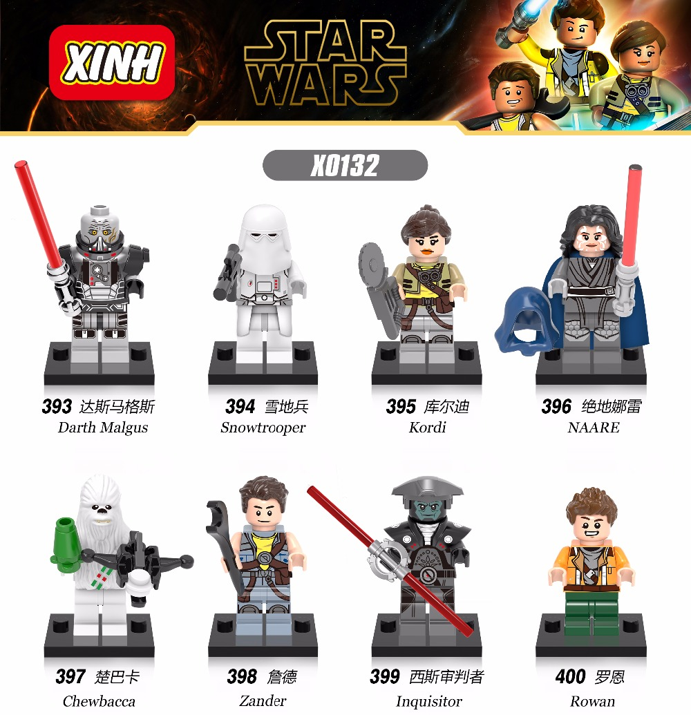 ФОТО star wars minifigures chewbacca rowan inquisitor with lightsaber 80pcs/lot building blocks sets starwars children toys lepin