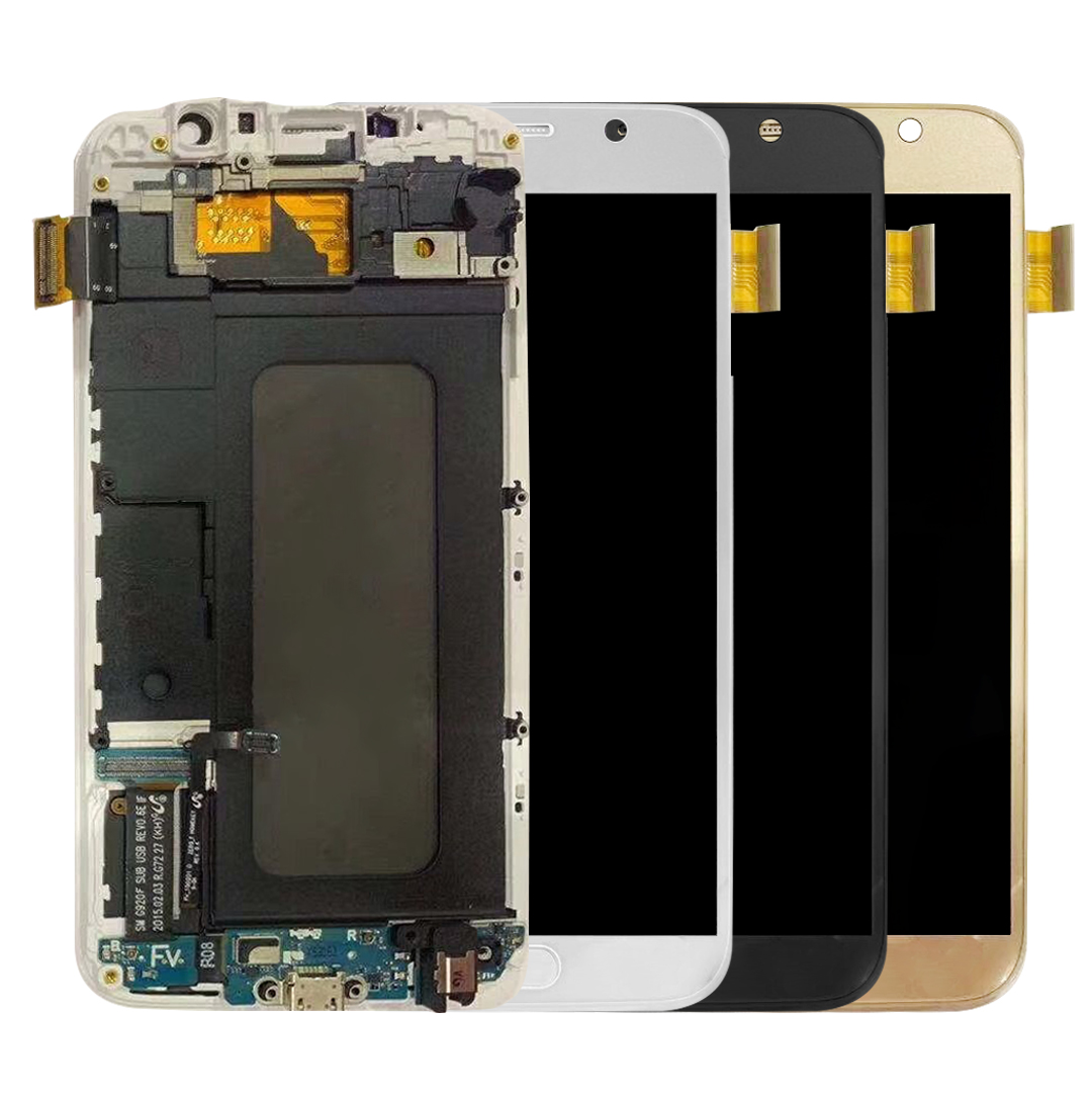 For Samsung Galaxy S6 G920F G920 G920FD G920FQ Screen LCD Display Touch Screen Digitizer Assembly Bezel Frame with Home ButtonFor Samsung Galaxy S6 G920F G920 G920FD G920FQ Screen LCD Display Touch Screen Digitizer Assembly Bezel Frame with Home Button