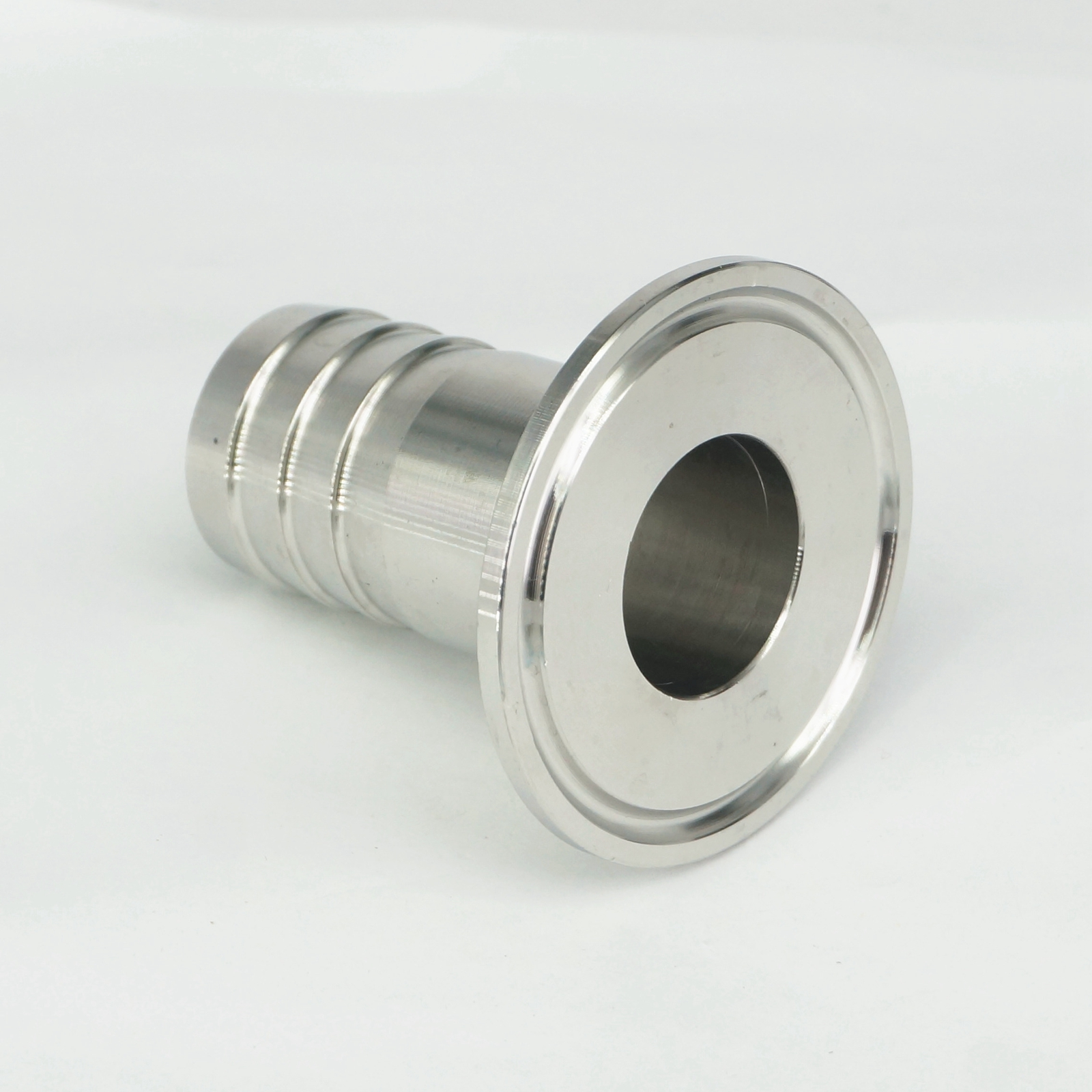 Hose clamps on barbed fittings shower mixer controls