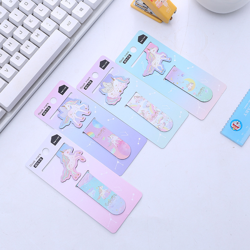 2 Pcs/pack Magical Unicorn Magnetic Bookmarks Books Marker Of Page Student Stationery School Office Supply Gift Stationery