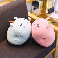 Winter Cartoon Unicorn Hand Warming Sleeve Animal Fox Carrot Soft Hand Hold Stuffed Plush Toys Cushion Pillow Birthday Gifts