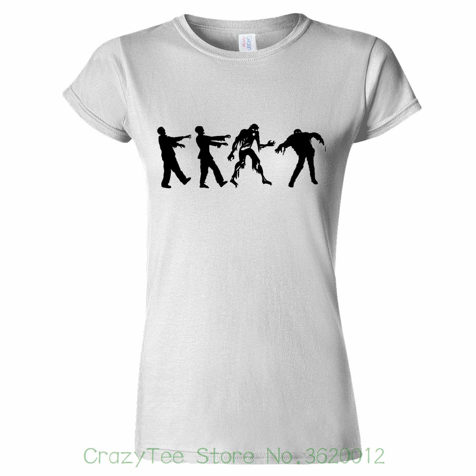 91523ee534e64 T shirt femme Zombie Apocalypse t shirt femme Halloween truc traiter Costume  fête fantaisie femme t shirt dans T-Shirts de Mode Femme et Accessoires sur  ...