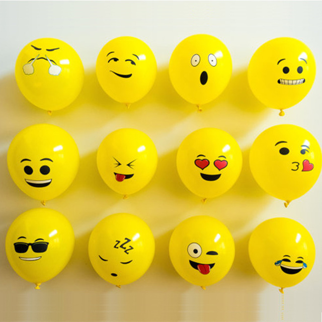 50 Pcs Lot 12inch Emoji Latex Balloons Ballons Expression Ballon Birthday Party Emoticons Helium