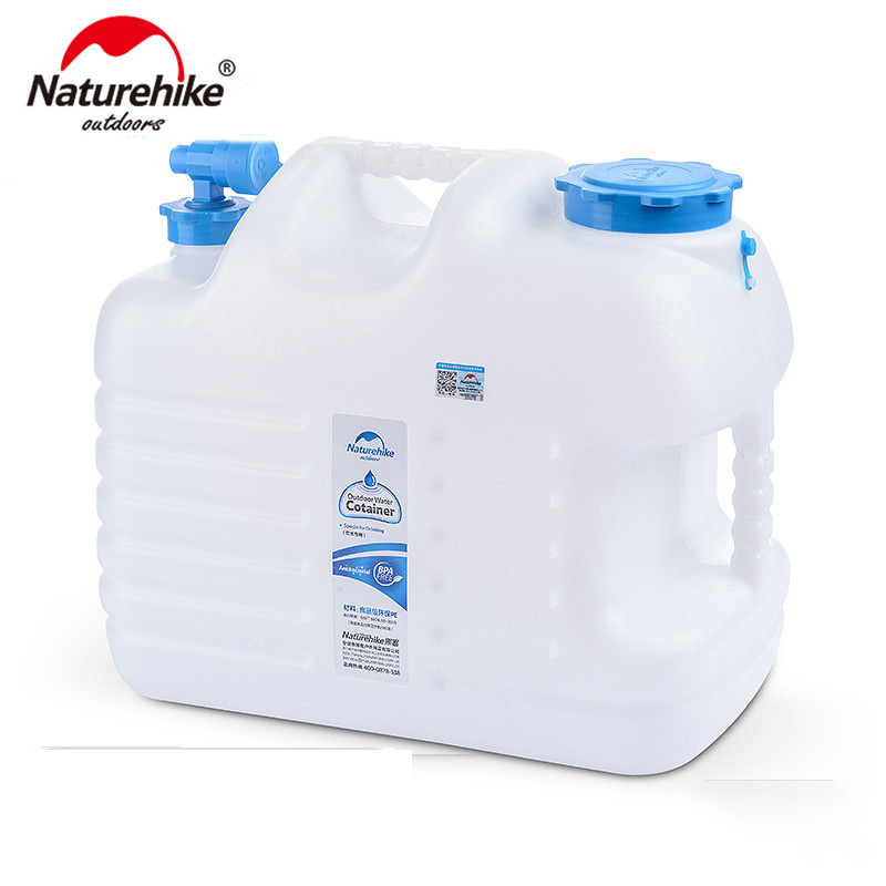 Naturehike New Designed 12L Water Barrel Food Grade PE Outdoor Water Tank Outdoor Hiking Camping Accessories Water Container