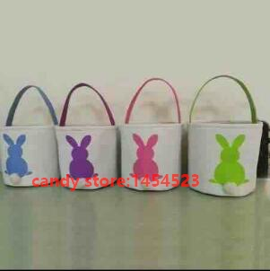Bunny ear easter buckets gifts bag cotton canvas material mix 4 bunny ear easter buckets gifts bag cotton canvas material mix 4 color kids gifts 25x25cm negle Images