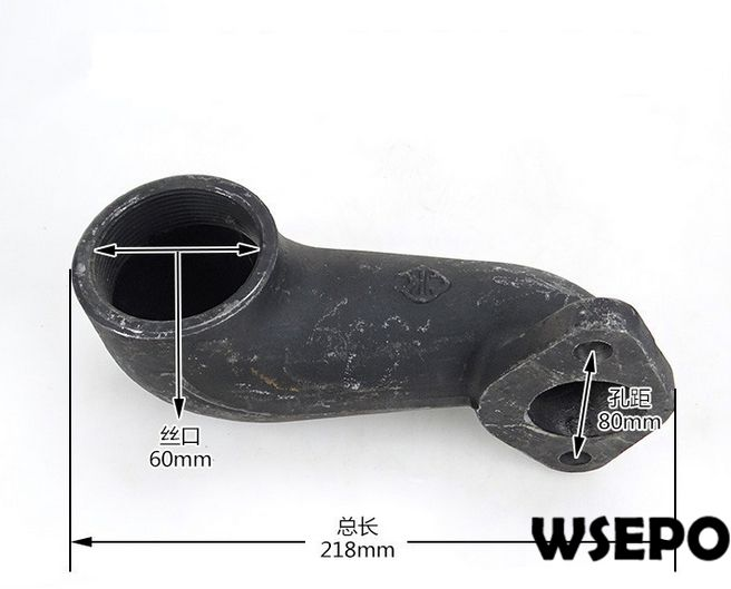 OEM Quality! Exhaust Connecting Pipe/Elbow for L28/L32 4 Stroke Single Cylinder Small Water Cooled Diesel EngineOEM Quality! Exhaust Connecting Pipe/Elbow for L28/L32 4 Stroke Single Cylinder Small Water Cooled Diesel Engine