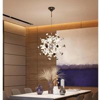 Modern Led crystal Pendant Lights for dining room lamp showcase Nordic Restaurant Hanging Lights Kitchen Suspension Luminaire