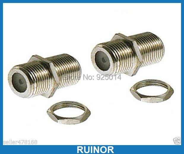 100PCS Female F to Female F Coaxial Connector for CCTV TV Surveillance video 5 x rf antenna fm tv coaxial cable tv pal female to female adapter connector