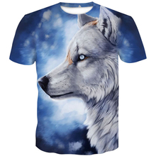 Wolf 3D Print T-Shirt Animal Cool Funny T Shirt Men Short Sleeve mens t shirts fashion 2018 Summer Tops Mens Tshirt Male 3XL 4XL