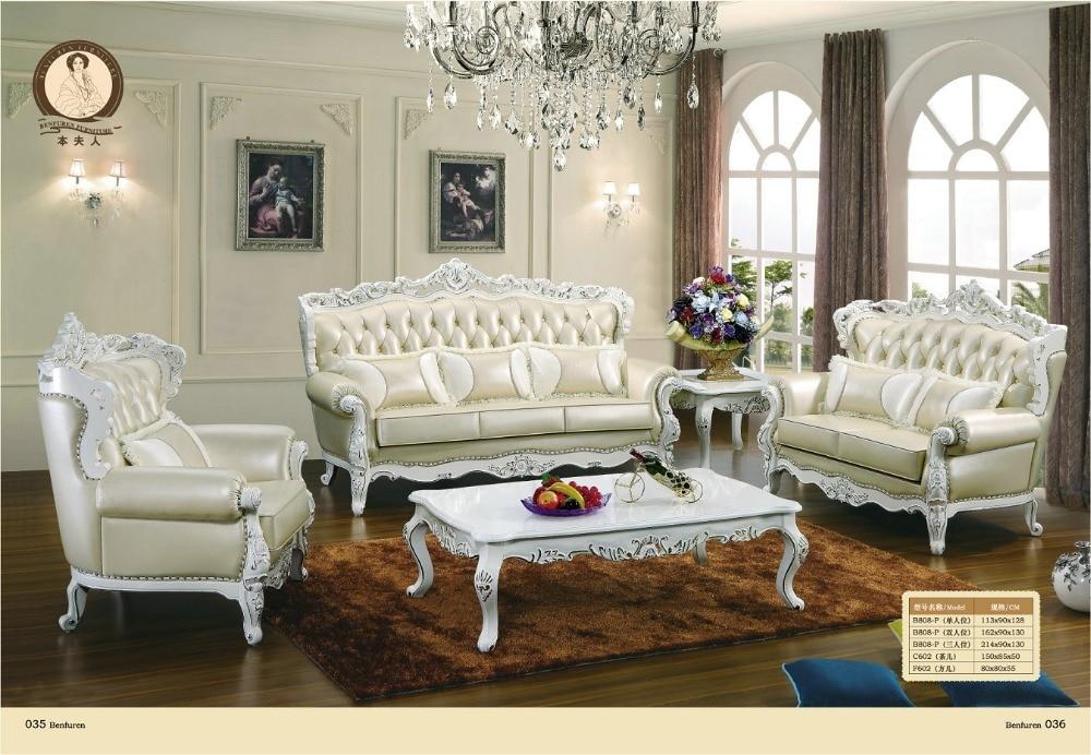 2019 křeslo Chaise výprodej evropský styl starožitné žádné originální kožené sedací soupravy pro obývací pokoj Bolsa luxusní euro klasická pohovka