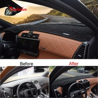 Tonlinker 1 PCS Car Dashboard anti dirty Cover sticker for CITROEN DEESSE DS7 2018 19 Car Styling Polyester Cover Stickers