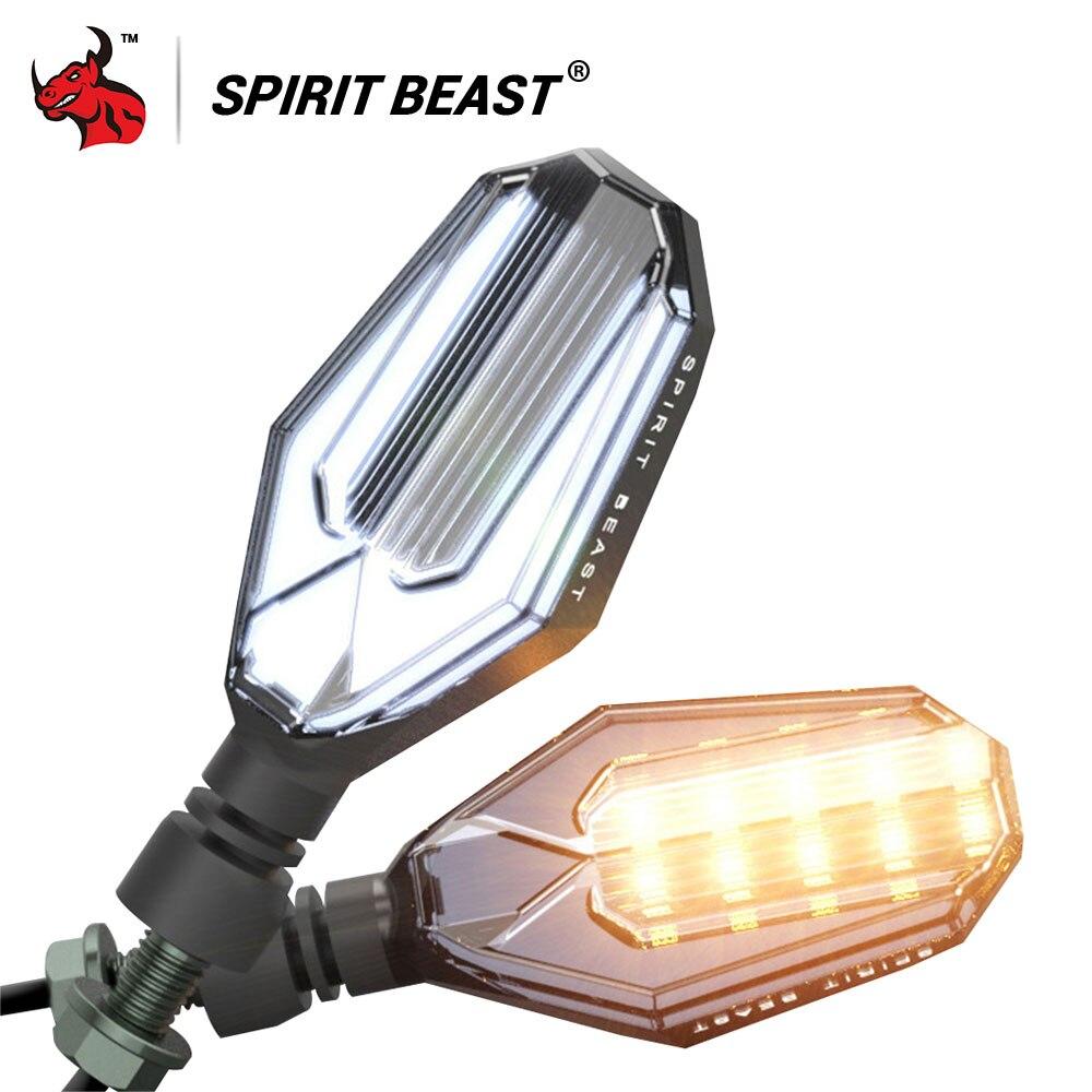 SPIRIT BEAST Spirit Beast Waterproof Led Motorcycle Light Turn Lights Motorcycle Single Light Bright Brake Light Universal Moto