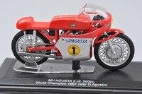 Motorcylce Mini Modelo 1/22 Escala Diecast colecionáveis ITALERI 3cil MV AGUSTA. 500cc Campeão Do Mundo piloto G. Agostini Moto