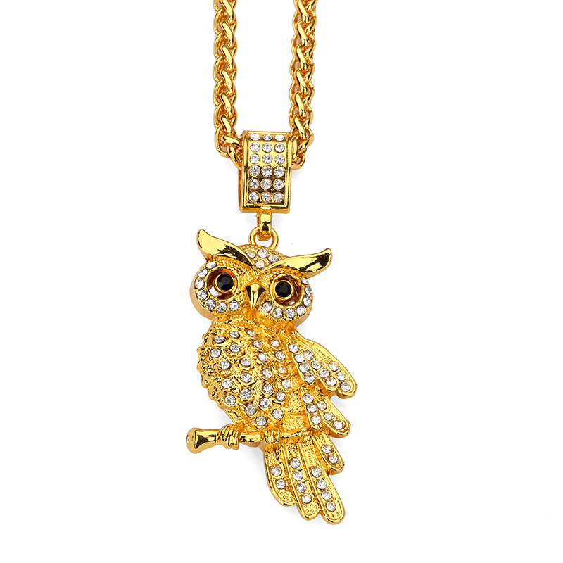 Tide brand owl pendant necklace hip hop chains for men for Bling jewelry coupon code