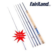 2018 Fly Fishing Rod with extra top end tip 11.2 ft 5 sections 6/7 7/8 8/9 Carbon Fiber Saltwater/Freshwater Blue Fly Rod