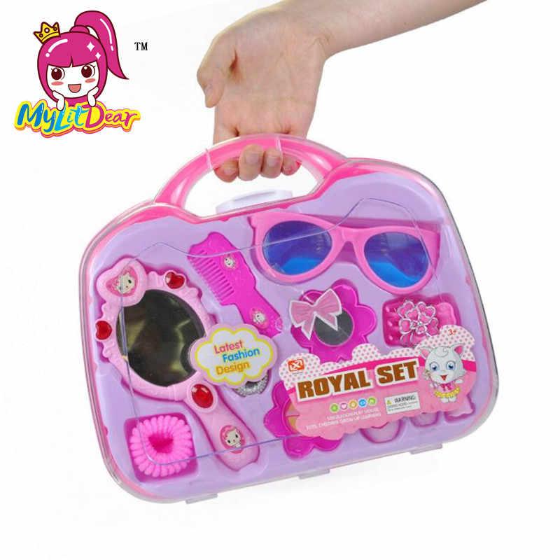 MylitDear детские игрушки Пластиковые ролевые игры моделирование косметичка игрушка с коробкой детский игровой домик Игрушки для девочек