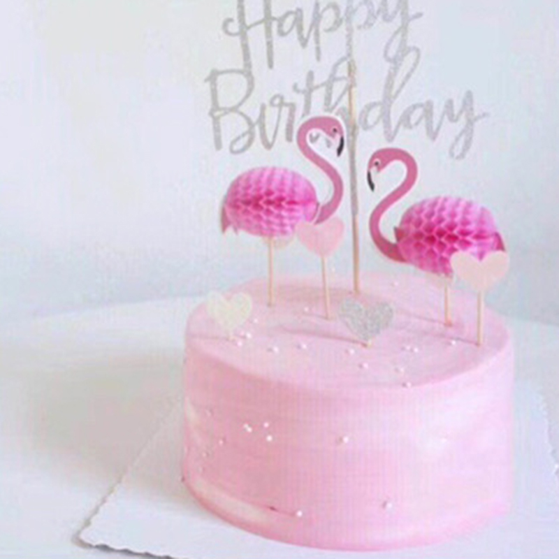 Its A Girl Cupcake Topper Picks Pink Girl Flamingo Birthday Party Baby Shower Cake Decorations
