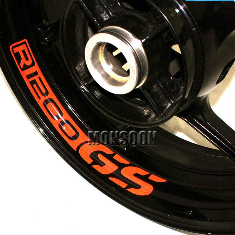 For BMW R GS RGS Motorcycle Front Rear CUSTOM INNER RIM - Bmw motorcycle custom stickers decals