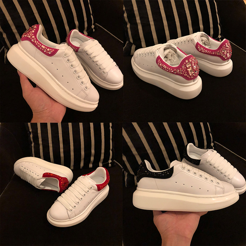 Femme 2018 forme As Plate Peu Plus Pic Casual Chaussures Conception Dentelle Appartements Printemps Hot Cristaux Cuir Up En as Pic Automne Sneakers Profonde Taille xrwrIO