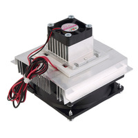 60W Thermoelectric Peltier Cooler Refrigeration Semiconductor Cooling System Kit Cooler Fan Finished Kit Computer Components 3