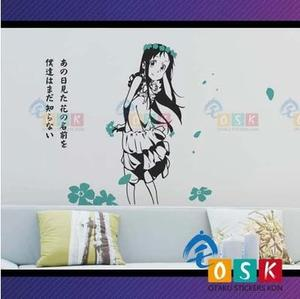 Ano Hana The Flower We Saw That Day Honma Meiko Vinyl Wall Sticker Decal Decor Anime Car Sticker|stickers japanese|car sticker|car stickers decoration -