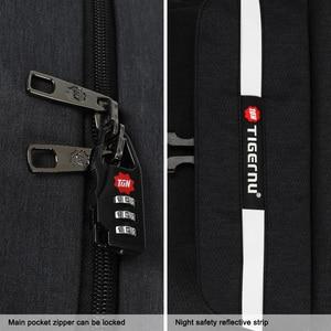 "Image 3 - Tigernu mochila para ordenador portátil de 15,6 ""para hombre, morral para ordenador portátil, con diseño de carga USB reflectante, antirrobo, resistente al agua"