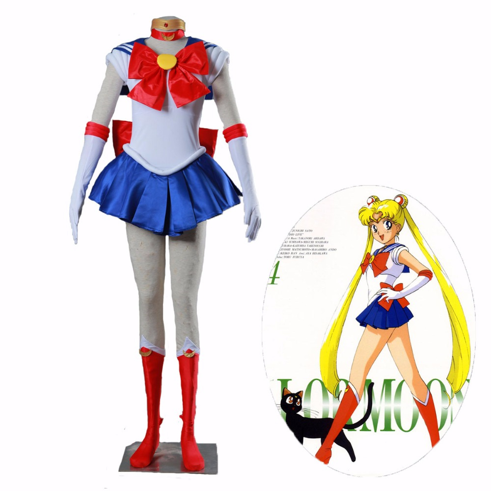 Anime Sailor Moon Cosplay Costume Tsukino Usagi Dress Party Costume  Custom Made Any Size For Child Girl Women High Quality