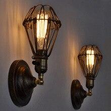 Iron black cage creative pendant lights vintage restaurant lamp bedroom dining room pendant light foyer pendant lamps