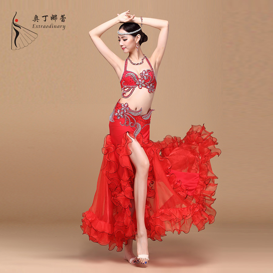 Stage Dance Wear Hand-Beaded High Quality Belly Dance Costume