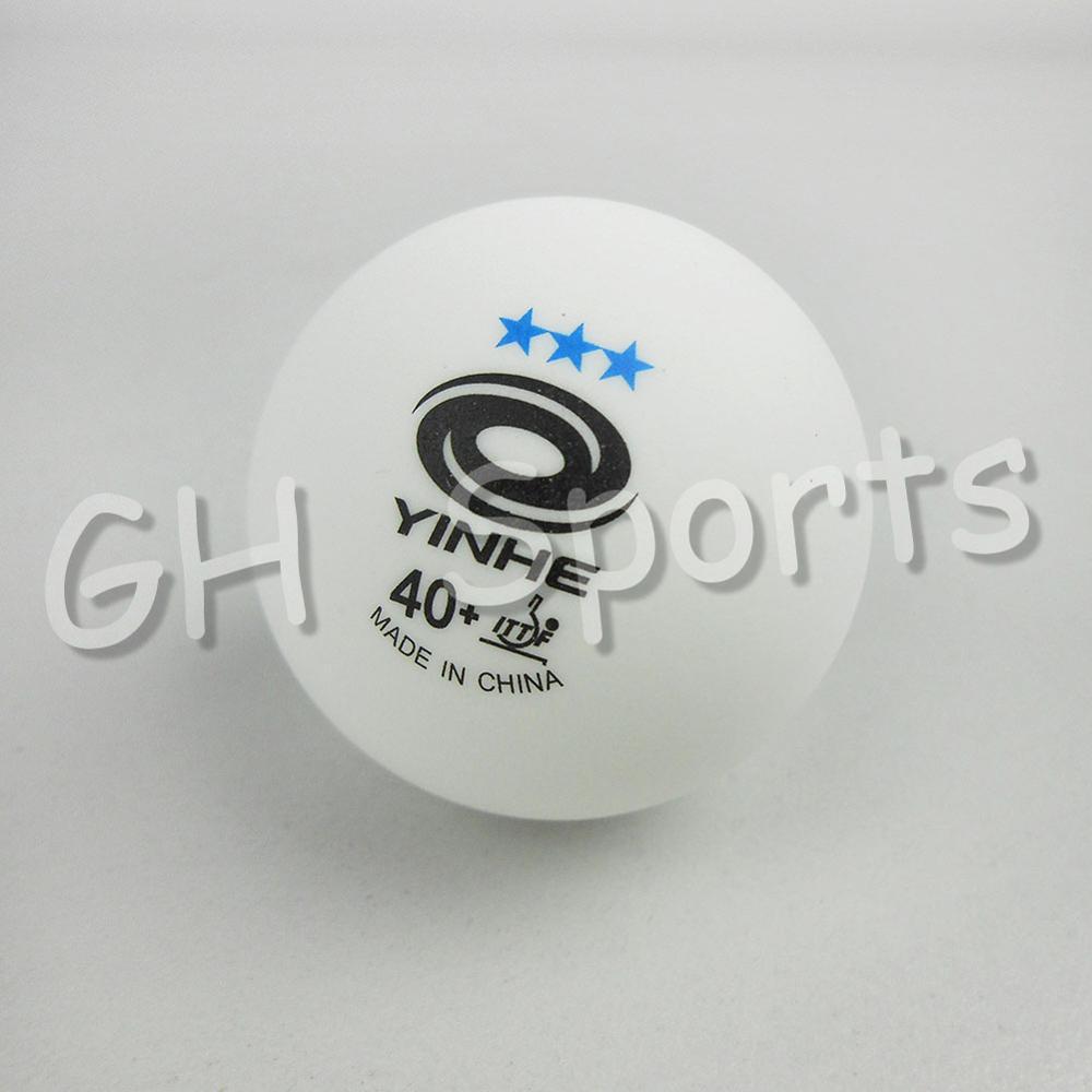 12x YINHE 3-Stars White 40+ New Materials Plastic Seamless Table Tennis Balls indoor sports racquet sports Balls BestControl