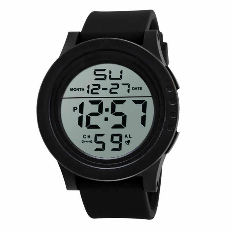 שעונים גברים יד 2018 Erkek Saat שעון גברים סיליקון Led אלקטרוני שעון יוקרה דיגיטלי שעון ספורט לרוץ זרוק חינם