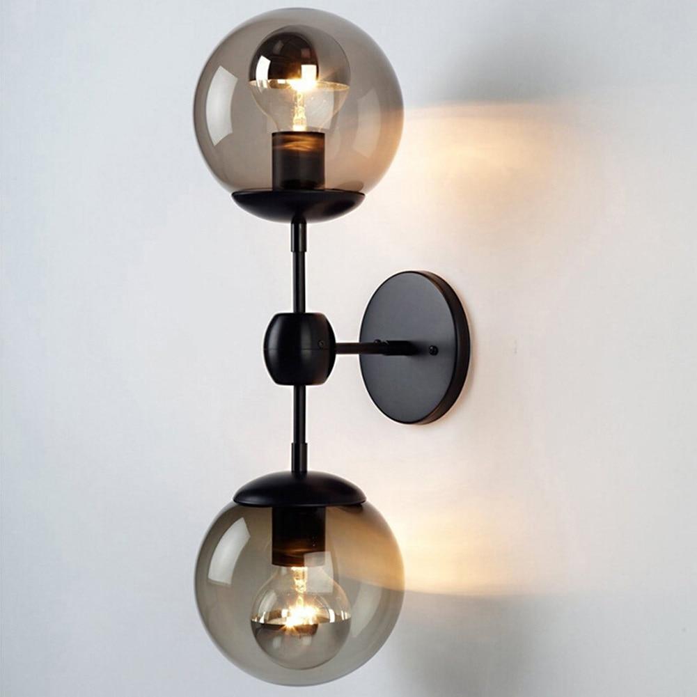 Living Room Bedroom Home Deco Magic Bean Double Head Wall Lamp Ceiling Hanging Wall Light AC110V-220V E27 LED Bulb Lighting deco home буфет
