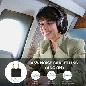 Image 4 - Oneodio auriculares con cancelación activa de ruido, Auriculares inalámbricos con Bluetooth estéreo por encima de la oreja, APT X ANC de baja latencia con micrófono